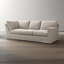 Axis II Slipcovered Right Arm Corner Sofa