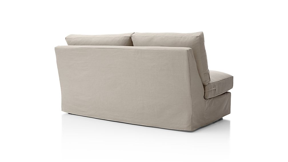 Axis II Slipcovered Right Arm Full Sleeper Sofa with Air Mattress