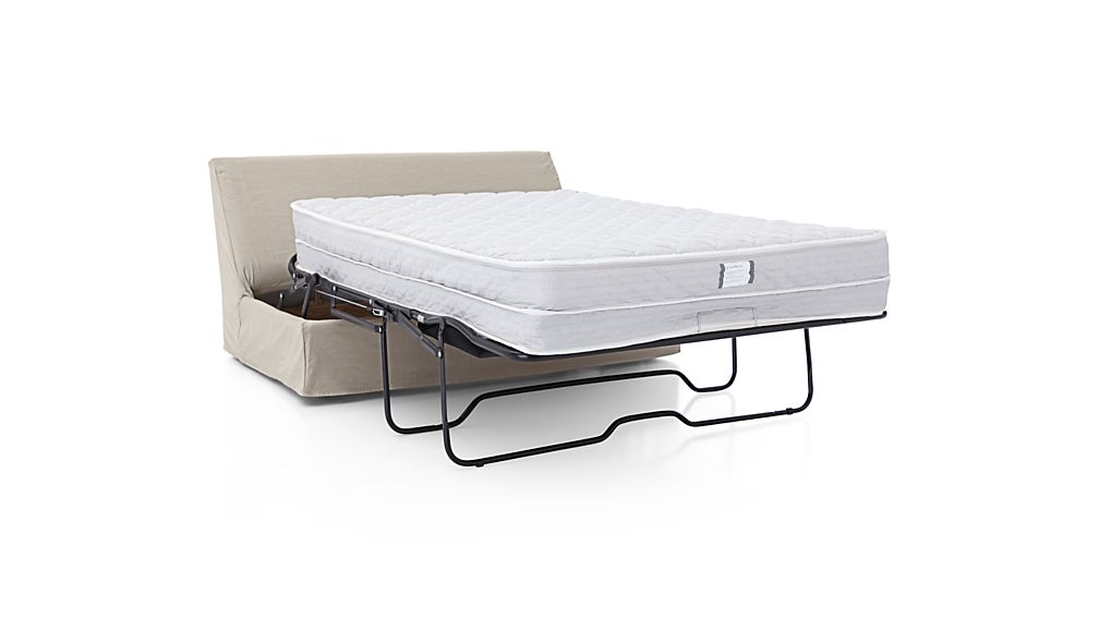 Axis II Slipcovered Armless Full Sleeper Sofa with Air Mattress