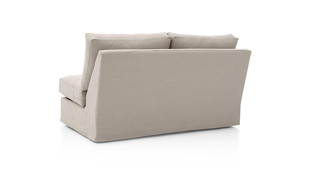 Axis II Slipcovered Armless Full Sleeper Sofa