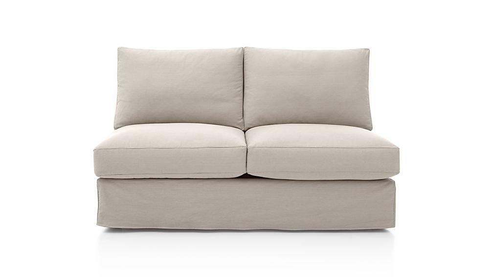 Axis Ii Slipcovered Armless Full Sleeper Sofa Denim Dove Crate And Barrel