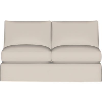 Axis II Slipcover Armless Sectional Full Sleeper Sofa with Air Mattress