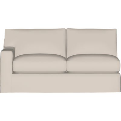 Axis II Slipcover Left Arm Sectional Full Sleeper Sofa with Air Mattress