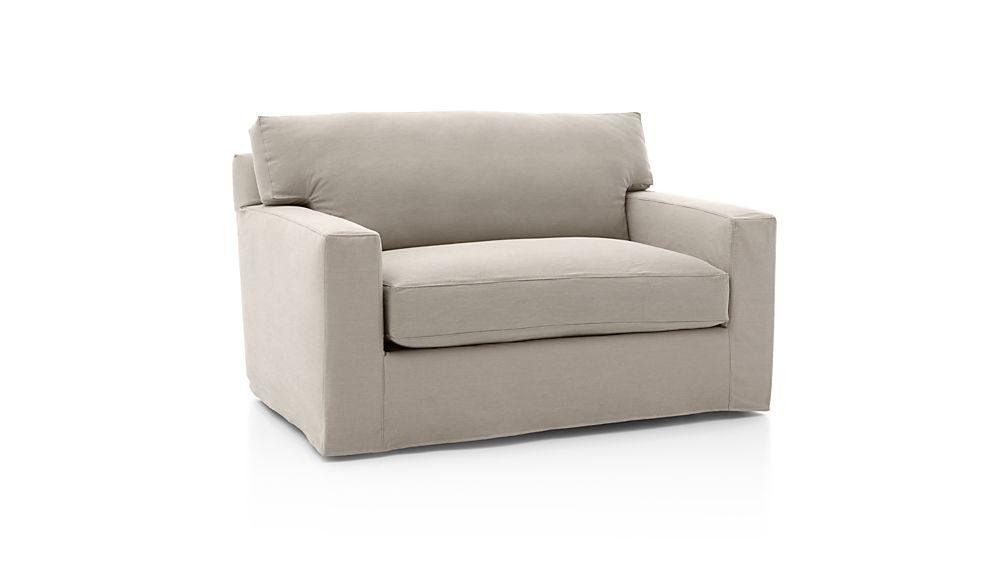 Axis II Slipcovered Twin Sleeper Sofa with Air Mattress