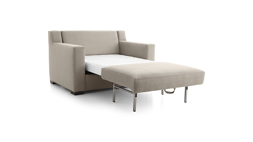 Axis Ii Twin Ultra Memory Foam Sleeper Sofa Douglas Nickel Crate And Barrel