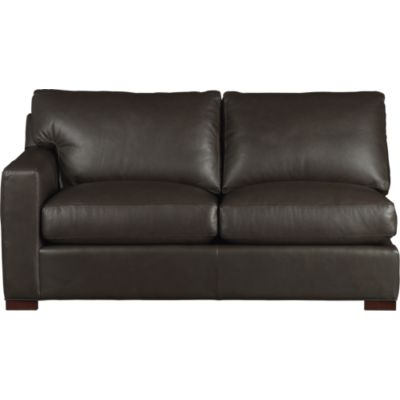 Axis II Leather Left Arm Sectional Loveseat