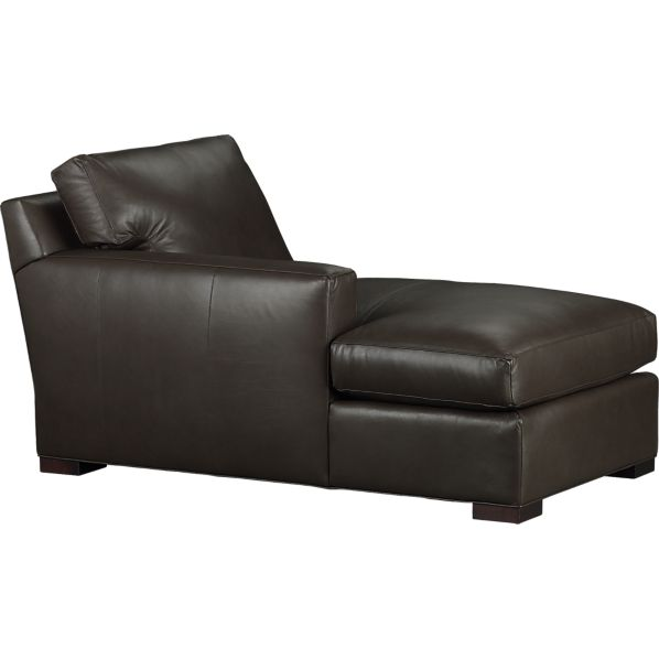 Axis Leather Sectional Left Arm Chaise