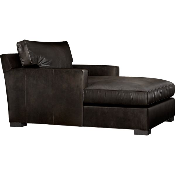 Axis Leather Chaise