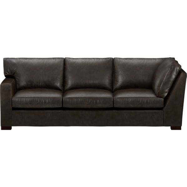 Axis Leather Sectional Left Arm Corner Sofa