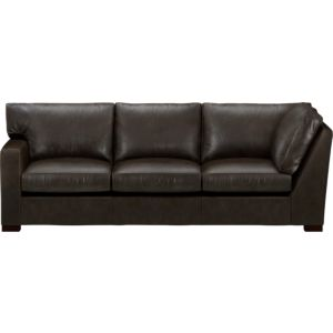 Axis II Leather Left Arm Corner Sectional Sofa