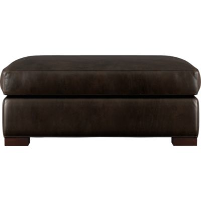 Axis Leather Ottoman and a Half