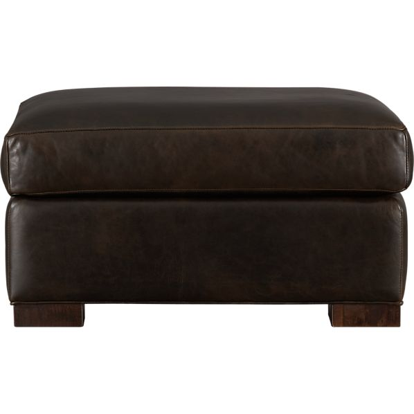 Axis Leather Ottoman