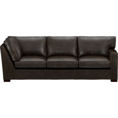 Axis Leather Sectional Right Arm Corner Sofa