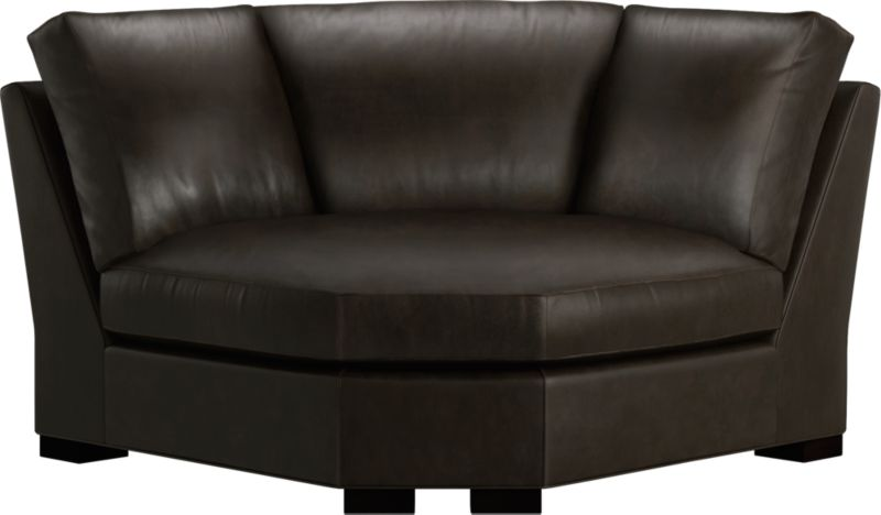 The clean lines of our best-selling Axis relax with casual sophistication in rich full-grain leather. Its natural markings and vintage nature add rich character. Plump back cushions frame the deep seat cushion. Block feet are stained a warm hickory.<br /><br />After you place your order, we will send a leather swatch via next day air for your final approval. We will contact you to verify both your receipt and approval of the leather swatch before finalizing your order.<br /><br /><NEWTAG/><ul><li>Eco-friendly construction</li><li>Certified sustainable, kiln-dried hardwood frame</li><li>Seat cushion is multilayer soy- or plant-based polyfoam wrapped in fiber-down blend and encased in downproof ticking</li><li>Back cushions are fiber-down encased in downproof ticking</li><li>Flexolator suspension</li><li>Upholstered in full grain, aniline-dyed leather with topstitching</li><li>Hickory-stained hardwood legs</li><li>Benchmade</li><li>See additional frame options below</li><li>Made in North Carolina, USA</li></ul>