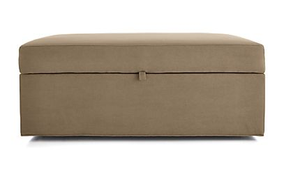 Axis Ii Storage Ottoman With Tray And Casters Douglas