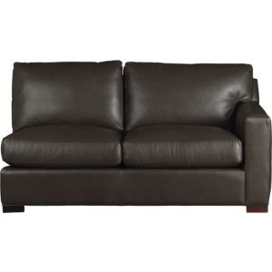 Axis II Leather Right Arm Sectional Full Sleeper Sofa