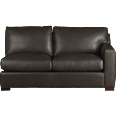 Axis Leather Sectional Right Arm Apartment Sofa