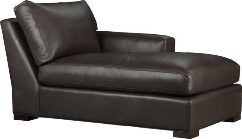 The clean lines of our best-selling Axis relax with casual sophistication in rich full-grain leather. Its natural markings and vintage nature add rich character. Wide track arm and plump back cushion frame the deep seat cushion. Block feet are stained a warm hickory.<br /><br />After you place your order, we will send a leather swatch via next day air for your final approval. We will contact you to verify both your receipt and approval of the leather swatch before finalizing your order.<br /><br /><NEWTAG/><ul><li>Eco-friendly construction</li><li>Certified sustainable, kiln-dried hardwood frame</li><li>Seat cushion is multilayer soy- or plant-based polyfoam wrapped in fiber-down blend and encased in downproof ticking</li><li>Back cushion is fiber-down encased in downproof ticking</li><li>Flexolator suspension</li><li>Upholstered in full grain, aniline-dyed leather with topstitching</li><li>Hickory-stained hardwood legs</li><li>Benchmade</li><li>See additional frame options below</li><li>Made in North Carolina, USA of domestic and imported materials</li></ul>