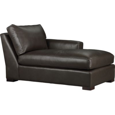 Axis Leather Sectional Right Arm Chaise