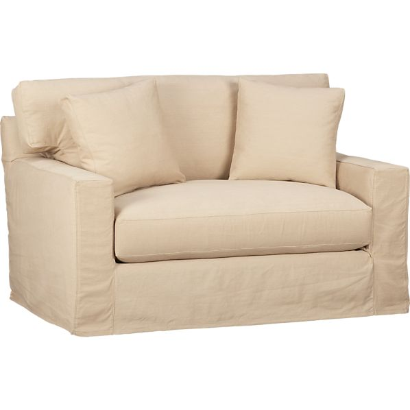 Axis Slipcovered Twin Sleeper Sofa