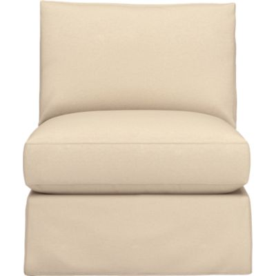 Axis Slipcovered Armless Sectional Chair