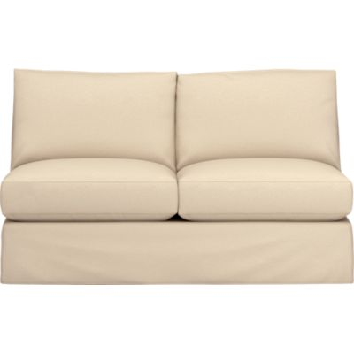 Axis Slipcovered Armless Sectional Loveseat