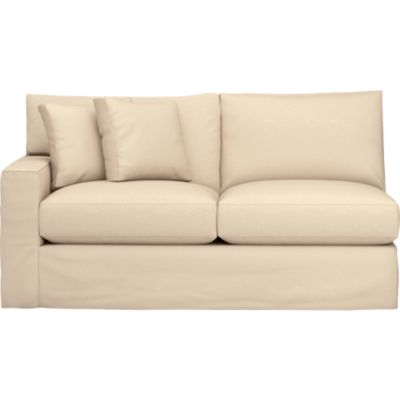 Axis Slipcovered Left Arm Sectional Full Sleeper Sofa