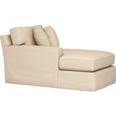 Axis Slipcovered Left Arm Sectional Chaise