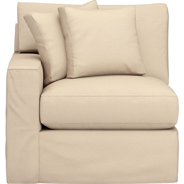 Axis Slipcovered Left Arm Sectional Chair