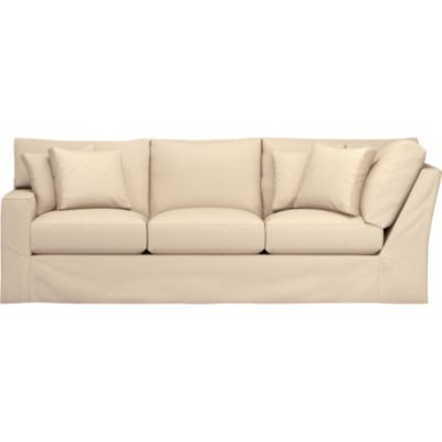 Axis Slipcovered Left Arm Corner Sectional Sofa