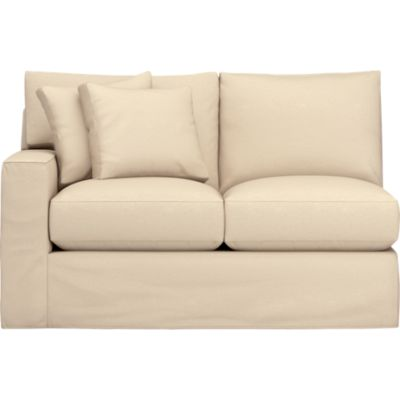 Axis Slipcovered Left Arm Sectional Loveseat