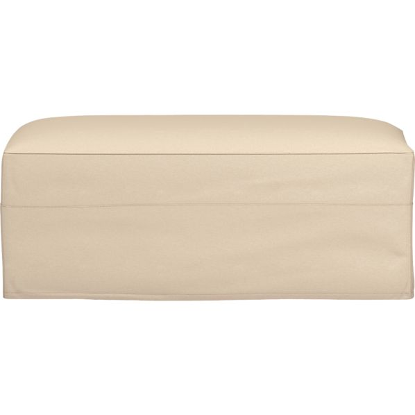 Axis Slipcovered Storage Ottoman