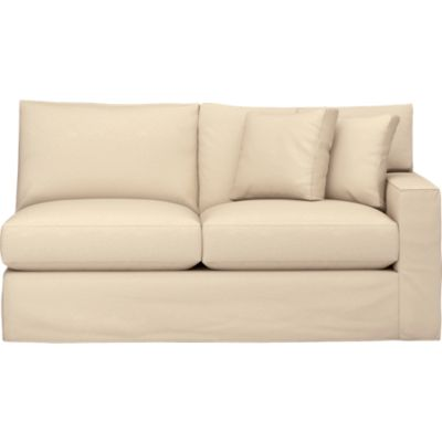 Axis Slipcovered Right Arm Sectional Apartment Sofa