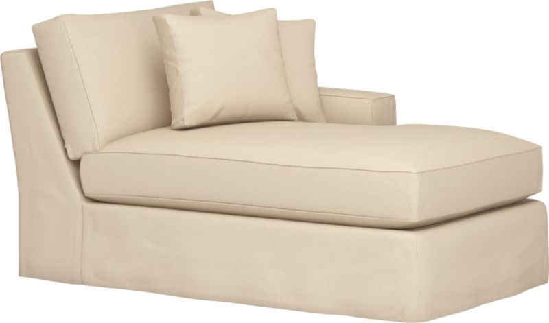 """Snug-fitting slipcovers hug Axis's deep and roomy contours, tailor-made with sleek floor-length skirt and crisp topstitching.<br /><br />Additional <a href=""""http://crateandbarrel.custhelp.com/cgi-bin/crateandbarrel.cfg/php/enduser/crate_answer.php?popup=-1&p_faqid=125&p_sid=DMUxFvPi"""">slipcovers</a> available through stores featuring our Furniture Collection.<br /><br />After you place your order, we will send a fabric swatch via next day air for your final approval. We will contact you to verify both your receipt and approval of the fabric swatch before finalizing your order.<br /><br /><NEWTAG/><ul><li>Machine washable</li><li>Topstitching detail</li><li>See"""