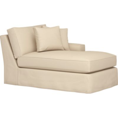 Axis Slipcovered Right Arm Sectional Chaise
