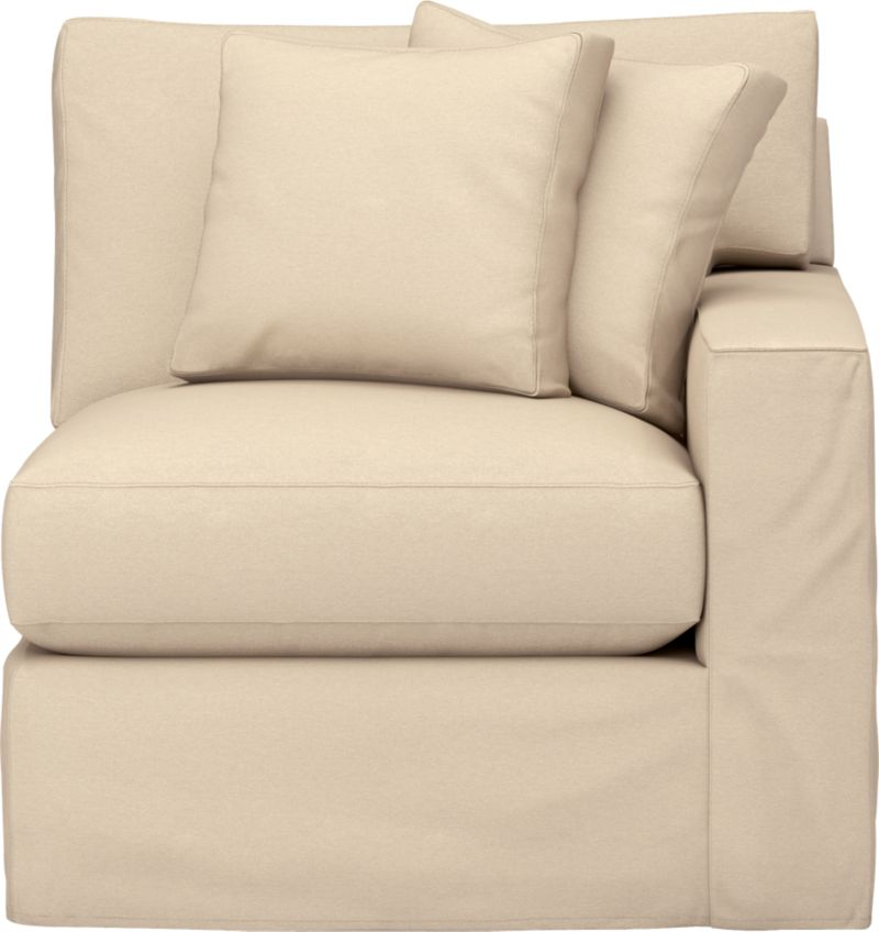"""Snug-fitting slipcovers hug Axis's deep and roomy contours, tailor-made with sleek floor-length skirt and crisp topstitching.<br /><br />Additional <a href=""""http://crateandbarrel.custhelp.com/cgi-bin/crateandbarrel.cfg/php/enduser/crate_answer.php?popup=-1&p_faqid=125&p_sid=DMUxFvPi"""">slipcovers</a> available through stores featuring our Furniture Collection.<br /><br />After you place your order, we will send a fabric swatch via next day air for your final approval. We will contact you to verify both your receipt and approval of the fabric swatch before finalizing your order.<br /><br /><NEWTAG/><ul><li>Machine washable</li><li>Topstitching detail</li><li>See additional frame options below</li><li>Made in North Carolina, USA</li></ul>"""