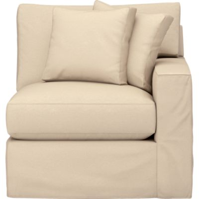 Axis Slipcovered Right Arm Sectional Chair
