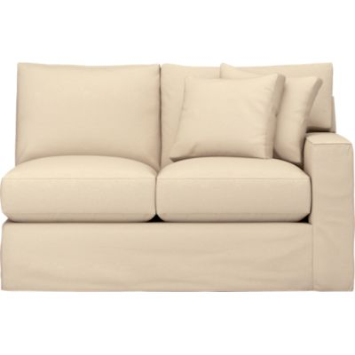 Axis Slipcovered Right Arm Sectional Loveseat