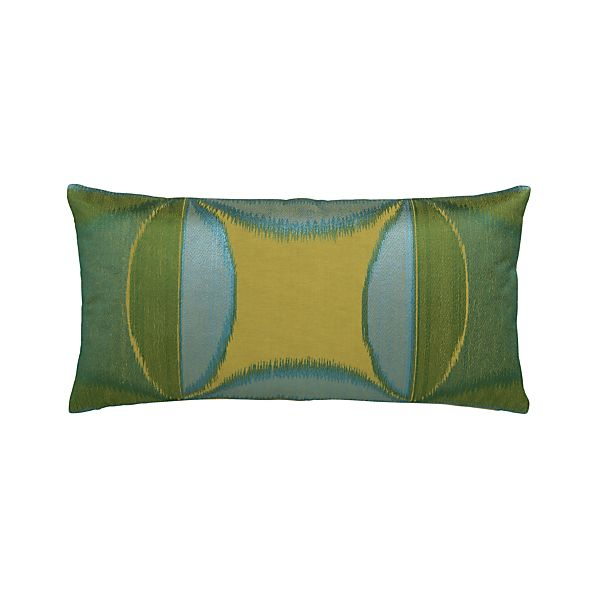 "Ayda 24""x12"" Pillow with Feather-Down Insert"