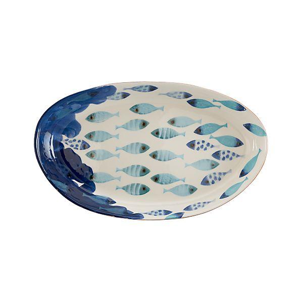 """Azul 19.25""""x12"""" Platter"""
