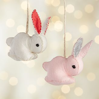 Felt Bunny Ornaments
