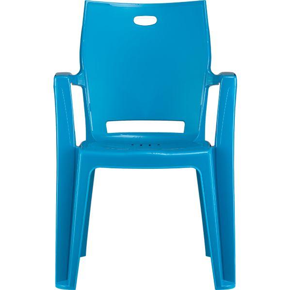 Backyard Turquoise Stacking Chair
