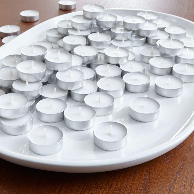 Bag of 100 White Tea Lights