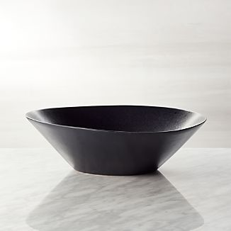 Baird Black Ceramic Serving Bowl