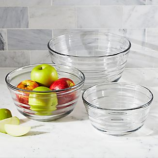 Baked by Fireking Glass Bowls Set of Three