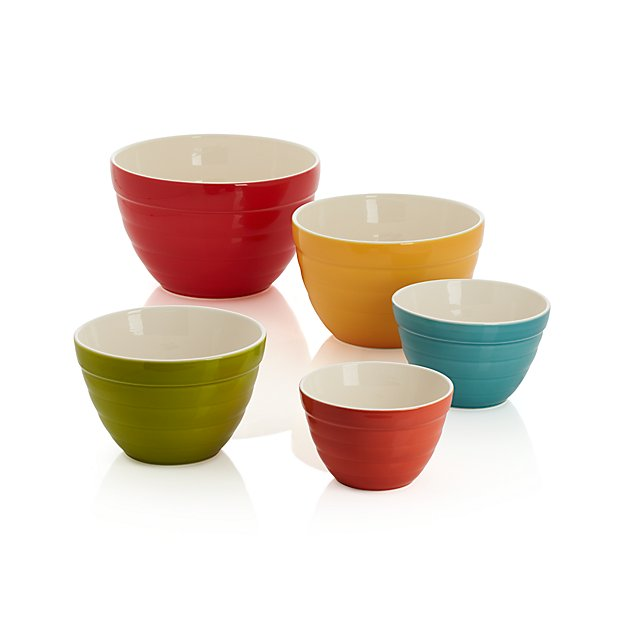 Set Of 5 Baker Nesting Bowls Crate And Barrel