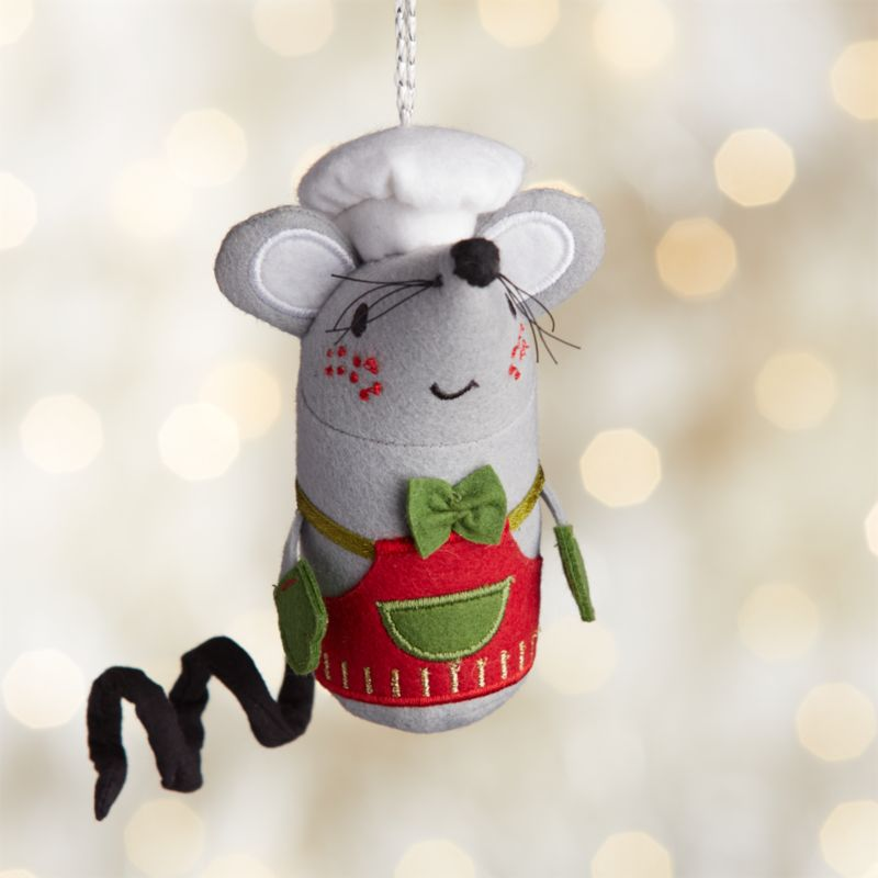Baking Mouse With Red Apron