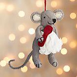 Baking Mouse with Apron Felt Ornament