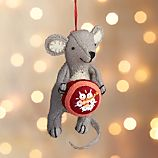 Baking Mouse with Cake Felt Ornament