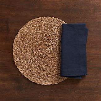 Bali Dark Placemat and Helena Indigo Linen Napkin